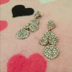 J. Crew sparkle pave rhinestone dangle earrings